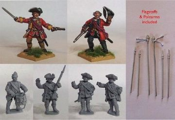 SYW/FIW B04 British Line Infantry Command